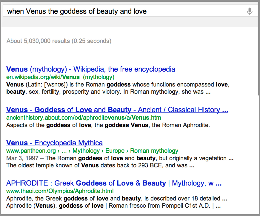 venus goddess wikipedia